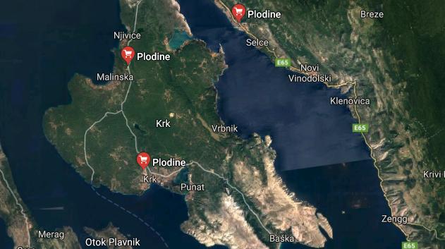 Plodine Insel Krk