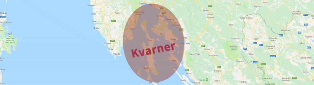 kvarner bucht karte
