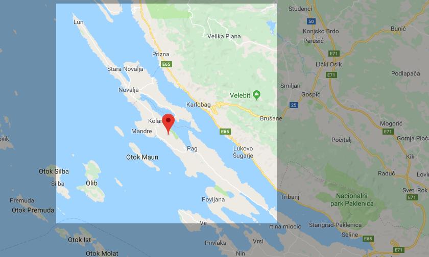 Kroatien Insel Pag Karte