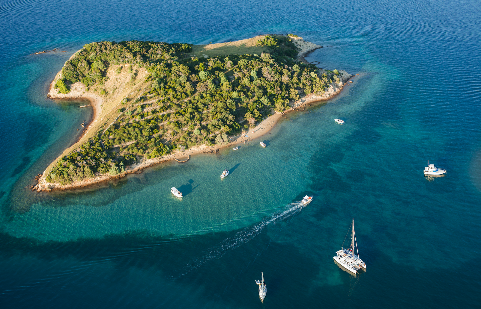 Rab Luftbild Insel