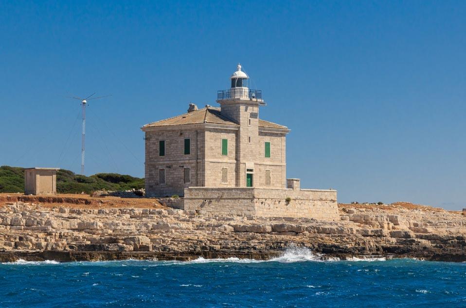 Brijuni Inseln mit altem Leuchtturm