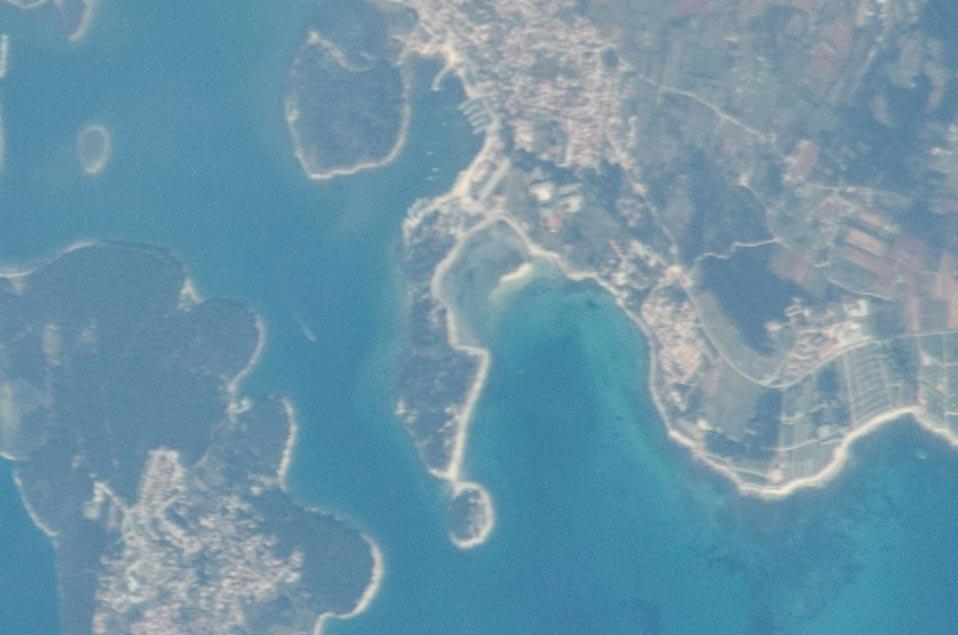 Medulin Ansicht von oben (NASA)
